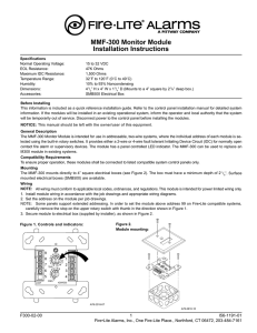 MMF-300 Monitor Module Installation Instructions - Fire