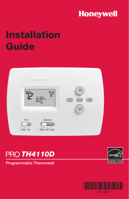 69-1849 - PRO 4110D Programmable Thermostat