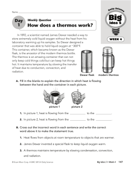 How does a thermos work?