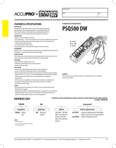 PSQ500DW - Power Sentry