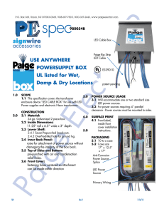 USE ANYWHERE POWERSUPPLY BOX UL listed for Wet, Damp