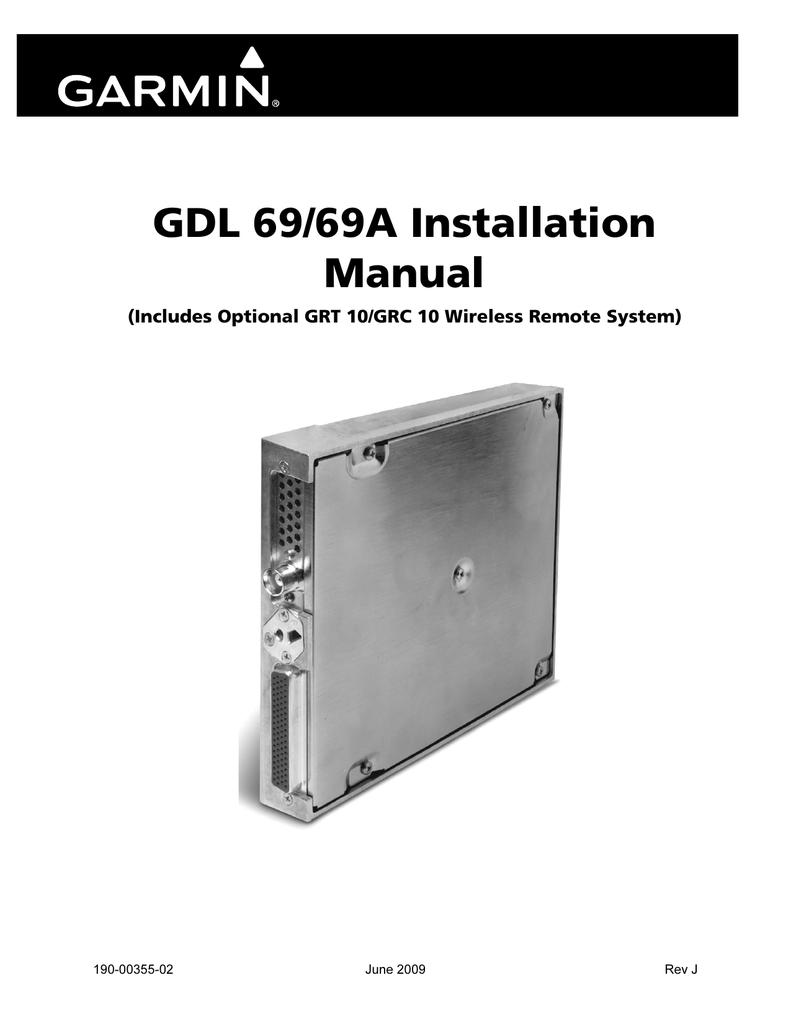 Gdl 69 69a Installation Manual Garmin 430 Wiring Diagram