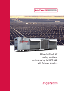 20 and 40-feet MV turnkey solutions, customised up to 3500 kVA