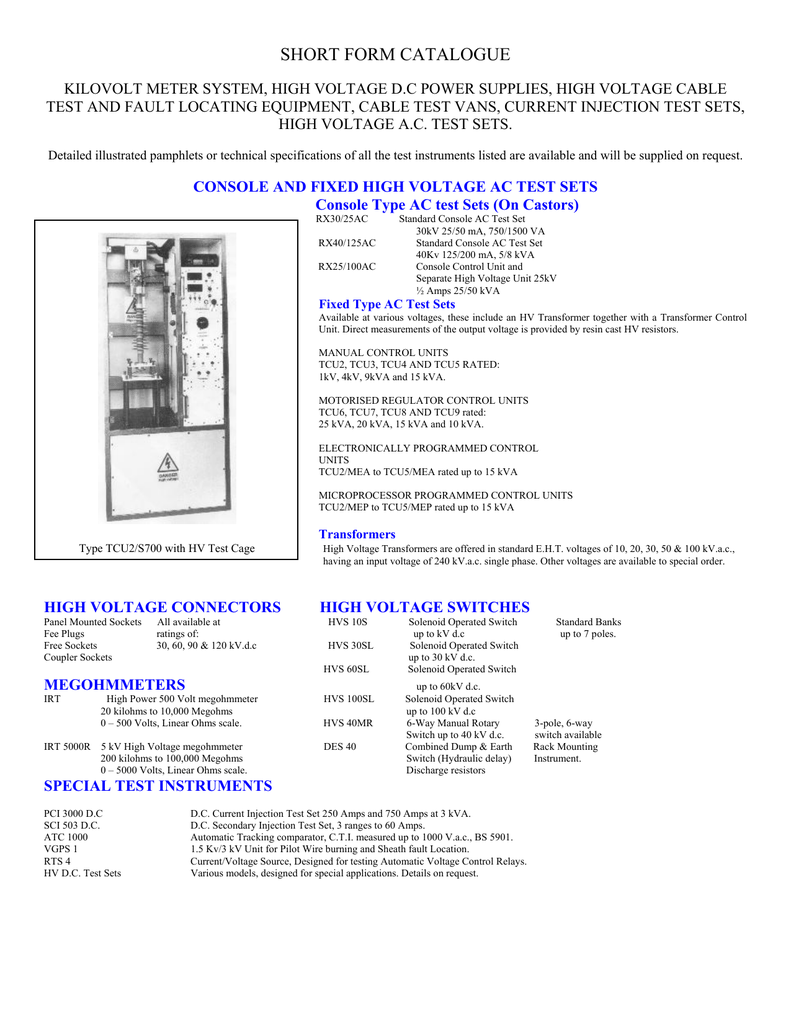 Test Equipment Catalogue pdf