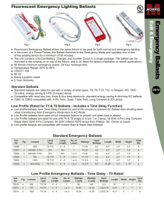 Fluorescent Emergency Lighting Ballasts