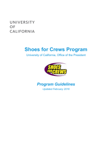 Shoes for Crews Program - Office of The President