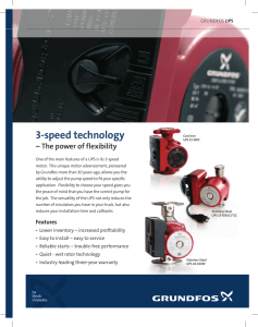 GRUNDFOS UPS (3-speed technology)