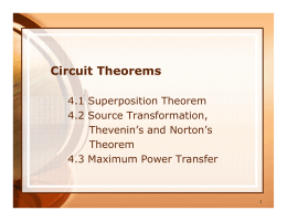 PPT : Circuit Theorems