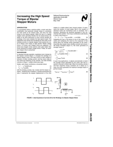 Increasing the High-Speed Torque of Bipolar Stepper Motors