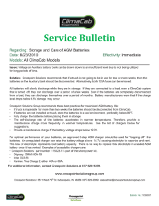 Service Bulletin - AGM Battery Storage kh-js