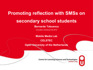 Promoting reflection with SMSs on secondary school students