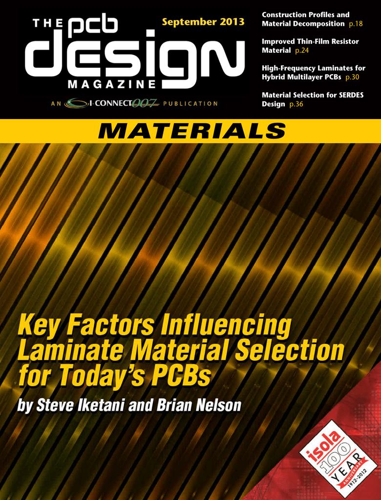 The PCB Design Magazine, September 2013