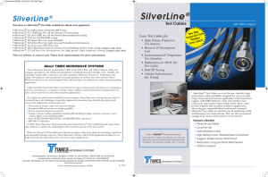 SilverLine® Test Cables