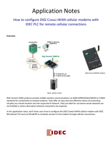 DIGI CONNECTWAN cellular modem