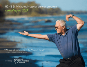HSHS St. Nicholas Hospital cancer program annual report 2015