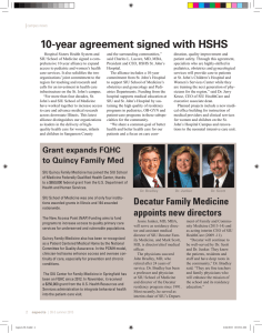 10-year agreement signed with HSHS
