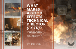 what makes a good effects technical director (fx td)?