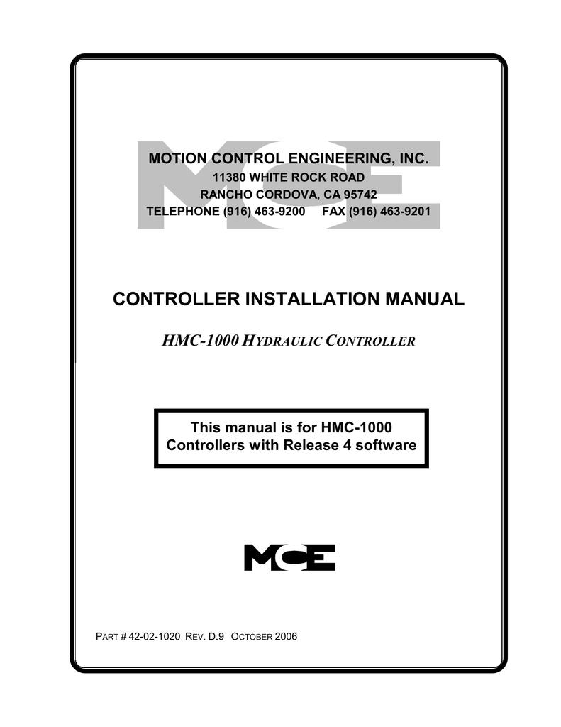 controller installation manual hmc   Hydraulic Elevator Wiring Diagram Mce Controller      StudyLib