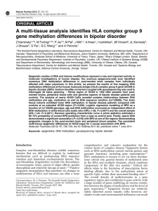 A multi-tissue analysis identifies HLA complex group 9 gene