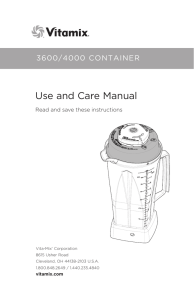 3600 / 4000 Container