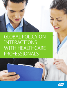 Global Policy on interactions with healthcare Professionals