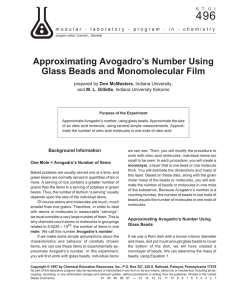 Approximating Avogadro`s Number Using Glass Beads and