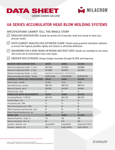 UA SERIES ACCUMULATOR HEAD BLOW MOLDING SYSTEMS