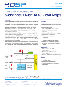 8-channel 14-bit ADC - 250 Msps
