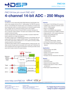 4-channel 14-bit ADC - 250 Msps