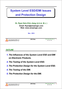 System Level ESD/EMI Issues and Protection Design
