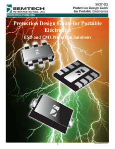 Protection Design Guide for Portable Electronics