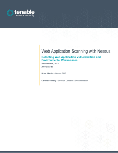 Web Application Scanning with Nessus