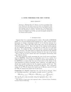 A CONE THEOREM FOR NEF CURVES 1. Introduction Suppose