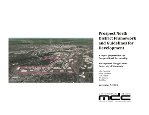 Prospect North District Framework and Guidelines for Development