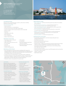 Fact Sheet - Hyatt Regency Chesapeake Bay