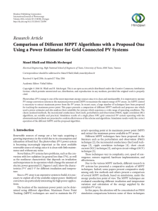 Comparison of Different MPPT Algorithms with a Proposed One