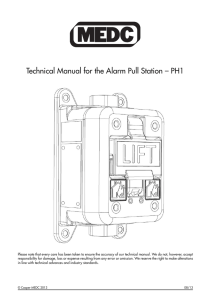 Technical Manual for the Alarm Pull Station – PH1