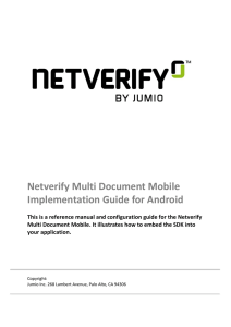 Netverify Multi Document Mobile Implementation Guide for