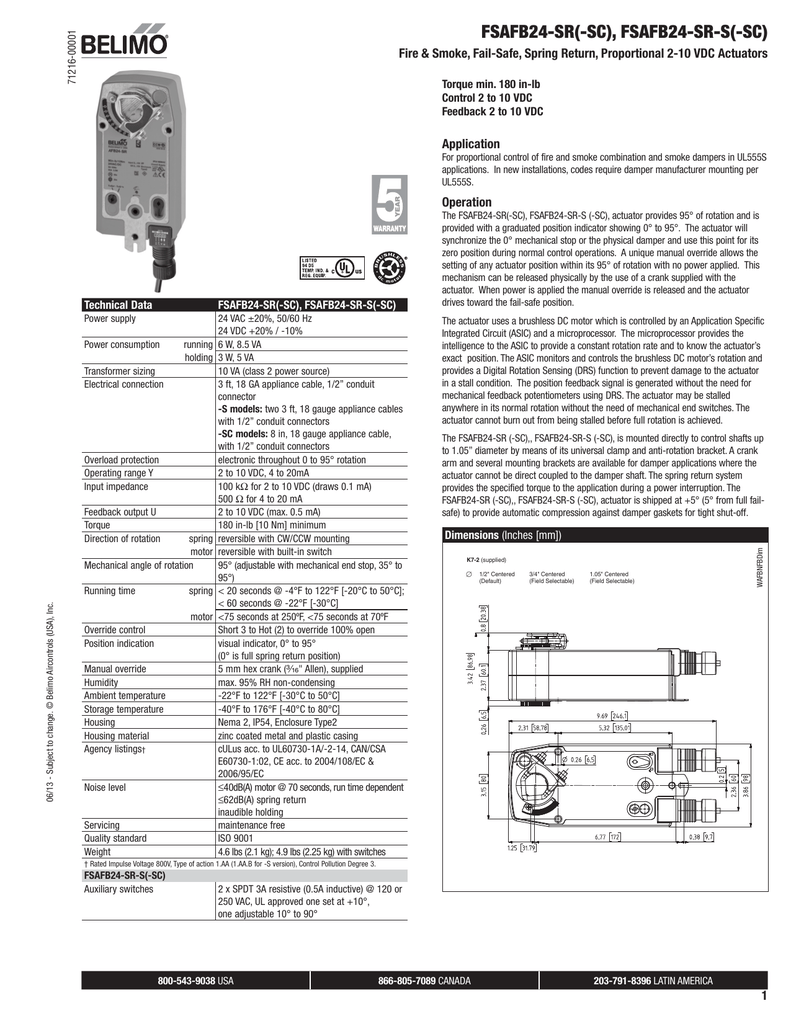Fire Smoke Damper Wiring Diagram