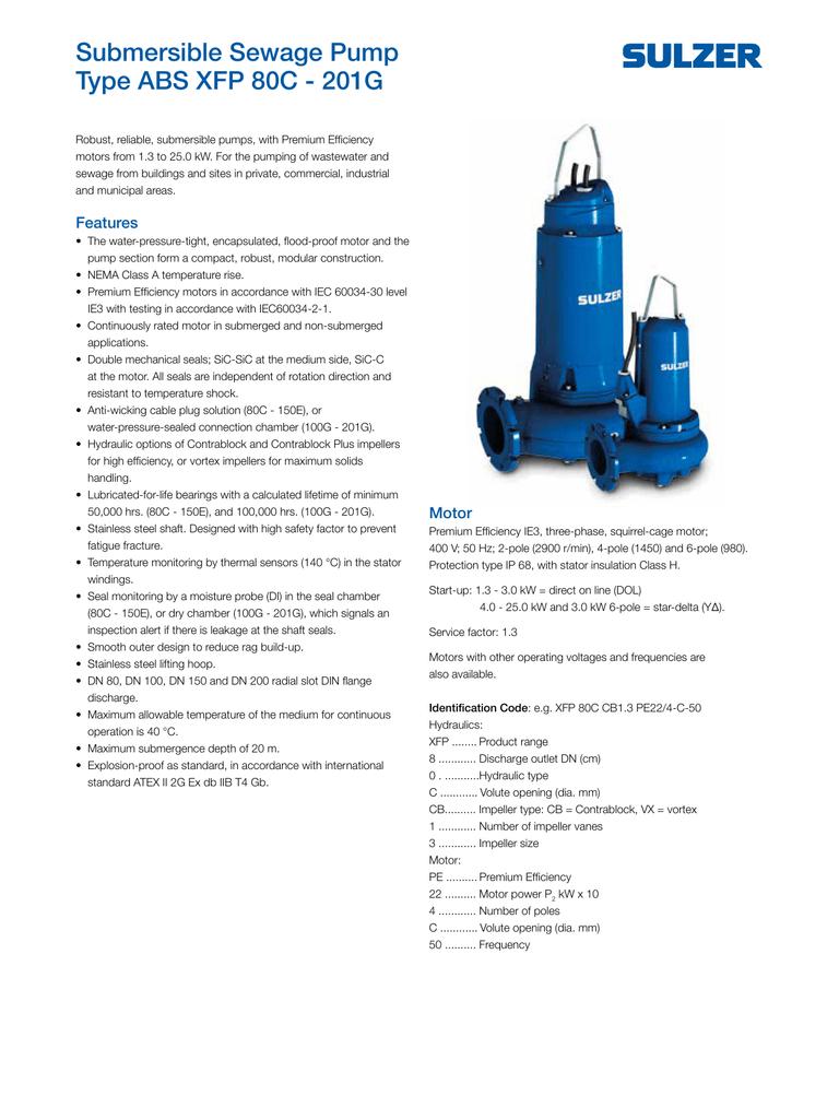 ... Array - submersible sewage pump type abs xfp 80c 201g rh studylib net  Array - installation operating and maintenance ...