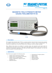 MAGNETIC FIELD STRENGTH METER GAUSS