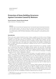 Protection of Stone Building Structures Against Corrosion Caused