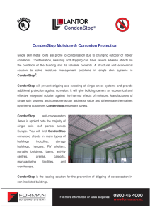 CondenStop Brochure - Forman Building Systems