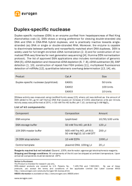 Duplex-specific nuclease