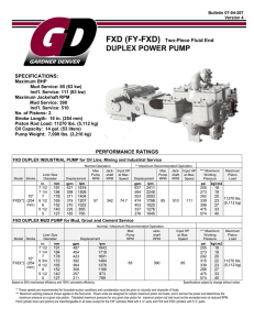 DUPLEX POWER PUMP - Gardner Denver Pumps