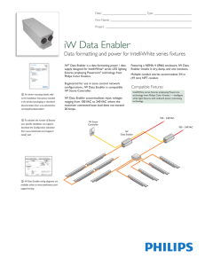 iW Data Enabler - Philips Color Kinetics
