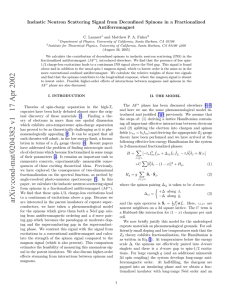Inelastic Neutron Scattering signal from Deconfined Spinons