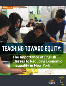 teaching toward equity - The Center for Popular Democracy