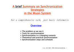 A brief Summary on Synchronization Strategies in the Muon System