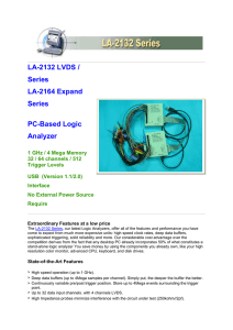 LA-2132 LVDS / Series LA-2164 Expand Series PC